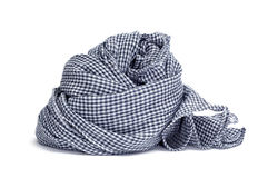 Checkered scarf. A checkered scarf on a white background Royalty Free Stock Photography