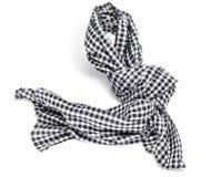 Checkered scarf Stock Photos