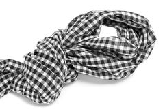 Checkered scarf Stock Image