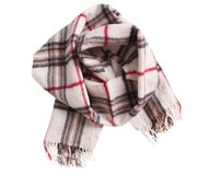 Checkered scarf isolated. Stock Photography