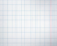 Checkered school notebook Royalty Free Stock Photo