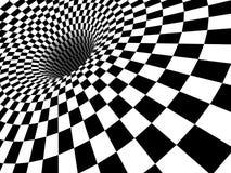 Checkered schwarzes Loch 3D Stockbilder