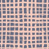 Checkered seamles pattern. Vector pattern in hand drawn style royalty free illustration