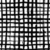 Checkered seamles pattern, Vector pattern in hand drawn style. Black lines on a white background vector illustration