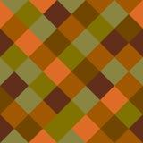 Checkered seamless background pattern. Mosaic / squares checkered pattern - seamless background texture Stock Photo