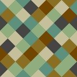 Checkered seamless background pattern. Mosaic / squares checkered pattern - seamless background texture Stock Photos