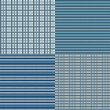 Checkered Seamless - Blue Stock Images