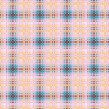 Checkered seamless pattern in brown, pink, blue and peach colors. Seamless pattern can be used for scrapbooking, wallpaper, cards and so on Royalty Free Stock Photography
