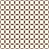Checkered seamless pattern. Mesh motif. Outline geometric abstract background with overlapping stripes with knot. Stock Images