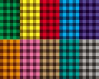 Checkered seamless patterns Royalty Free Stock Photos