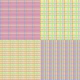 Checkered Seamless Set Stock Image