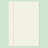 Checkered Sheet Royalty Free Stock Images