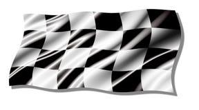Checkered shiny waving  flag Stock Photo