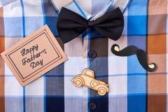 Checkered shirt and greeting card. Stock Image