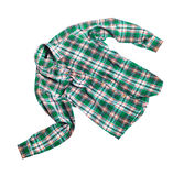 Checkered shirt isolated on white background. Checkered shirt isolated on white Royalty Free Stock Photography