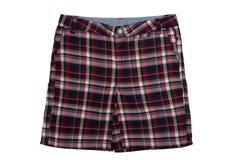 Checkered shorts isolated on white Stock Photo