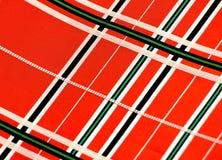 Checkered silk ткань, Япония, пояс для кимоно Стоковые Фото