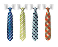 Checkered silk ties templat Royalty Free Stock Image
