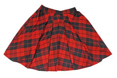 Checkered skirt Stock Image