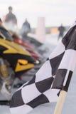 checkered snowmobile гонки флага Стоковое Изображение RF