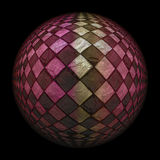 Checkered sphere Stock Photography