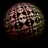 Checkered sphere Royalty Free Stock Images