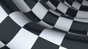 Checkered sport flag, seamless loop. stock video