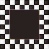 Checkered square picture picture frame Stock Photo