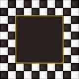 Checkered square picture picture frame Stock Photo