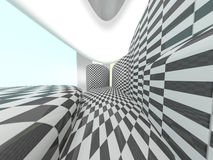 Checkered stage background Stock Photo