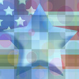 Checkered Star. Wall paper with American flag theme in pastels Stock Photography
