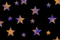 Checkered stars Stock Images