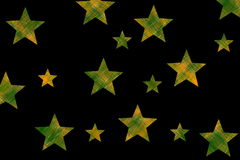 Checkered stars Stock Photography
