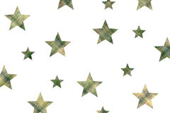 Checkered stars Royalty Free Stock Photography