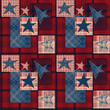 Checkered stars seamless pattern Royalty Free Stock Photo