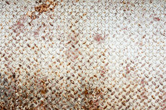 Checkered steel plate Royalty Free Stock Photo