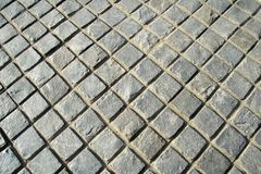 Checkered Stone Pavement Royalty Free Stock Photo