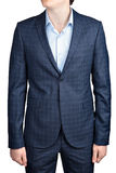 Checkered suit for men Stock Photography