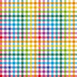 Checkered table cloth background Stock Photo