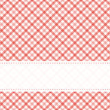 checkered table cloth pattern with banner Royalty Free Stock Photography