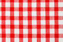 Checkered tablecloth. Photo shot of checkered tablecloth Stock Images