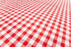 Checkered tablecloth. Photo shot of checkered tablecloth Royalty Free Stock Photos