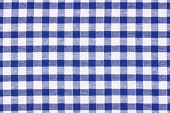 Checkered tablecloth. Photo shot of the blue checkered tablecloth Royalty Free Stock Image
