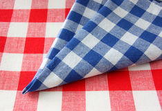 The checkered tablecloth Stock Photos