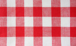 The checkered tablecloth Royalty Free Stock Photos