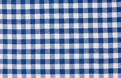 Checkered tablecloth Stock Photography