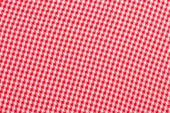 The checkered tablecloth. Checkered tablecloth, red cloth close-up textile Stock Image