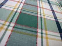 Checkered tablecloth - folk pattern Stock Images