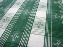 Checkered tablecloth - folk pattern Stock Photo