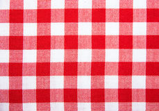 The checkered tablecloth isolated Royalty Free Stock Images